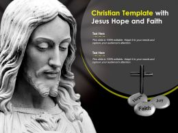 Christian Template With Jesus Hope And Faith