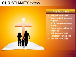 Christianity Cross Powerpoint Presentation Slides db
