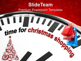 Christmas Angels Clip Art Time For Shopping Powerpoint Templates Ppt Backgrounds Slides