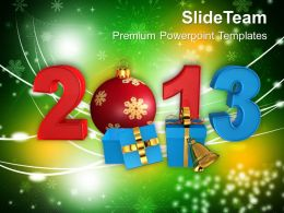 Christmas Angels Happy 2013 With Filigree Gifts Events Powerpoint Templates Ppt For Slides