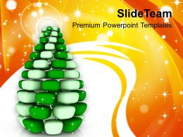 Christmas Angels Happy 3d Illustration Of Cubed Tree Powerpoint Templates Ppt For Slides