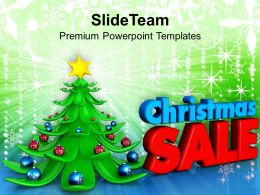 Christmas Angels Happy 3d Illustration Of Tree With Sales Powerpoint Templates Ppt For Slides