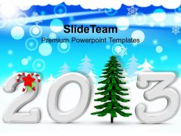 Christmas Background 2013 With Pine Tree Powerpoint Templates Ppt Backgrounds For Slides