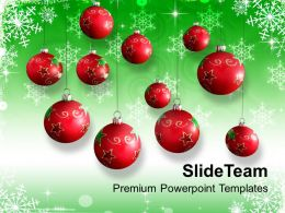 Christmas Background Decoration With Baubles Events Templates Ppt Backgrounds For Slides