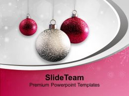 Christmas Background Decorative Ornaments Powerpoint Templates Ppt Backgrounds For Slides