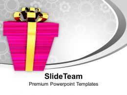 Christmas Background Presents With Golden Wrappings Festival Templates Ppt For Slides