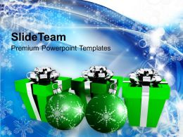 Christmas Background Presents With Ornaments Events Templates Ppt Backgrounds For Slides