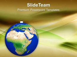 Christmas Ball Shaped As Globe Or Planet Powerpoint Templates Ppt Themes And Graphics 0113