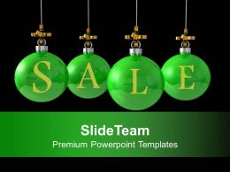 Christmas Balls Hanging Discount Sale Powerpoint Templates Ppt Themes And Graphics 0113