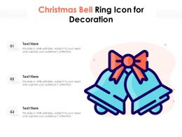 Christmas Bell Ring Icon For Decoration