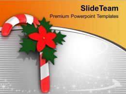 Christmas Candy Cane Holidays PowerPoint Templates PPT Themes And Graphics