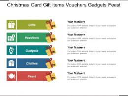 Christmas Card Gift Items Vouchers Gadgets Feast