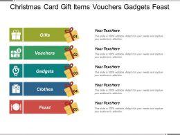 Christmas Card Gift Items Vouchers Gadgets Feast