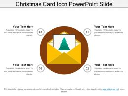 Christmas Card Icon Powerpoint Slide