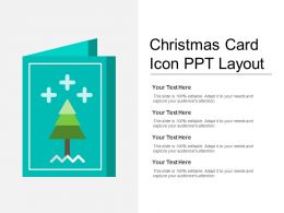 Christmas Card Icon Ppt Layout