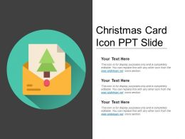 Christmas Card Icon Ppt Slide