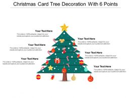 Christmas Card Tree Decoration With 6 Points