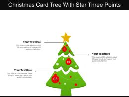 Christmas Card Tree With Star Three Points