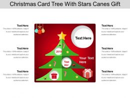 Christmas Card Tree With Stars Canes Gift
