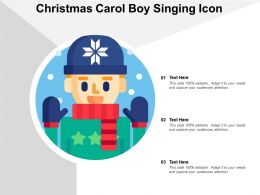 Christmas Carol Boy Singing Icon