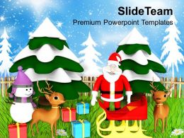 Christmas Clip Art Religious Theme Holidays Powerpoint Templates Ppt For Slides