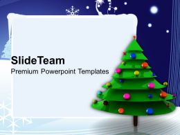 Christmas Clip Art Religious Tree Decorations Festival Powerpoint Templates Ppt For Slides