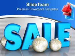 Christmas Clip Art Vintage Illustration Of Discount Sale Powerpoint Templates Ppt For Slides