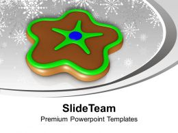 Christmas Cookie In Chocolate Color Festival Powerpoint Templates Ppt Themes And Graphics 0113