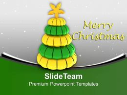 Christmas Cubed Tree Winter Holidays PowerPoint Templates PPT Themes And Graphics