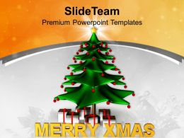 Christmas Day Clip Art Stylized Tree With Gifts Holidays Templates Ppt Backgrounds For Slides