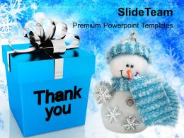Christmas Day Clip Art Thank You Presents Festival Powerpoint Templates Ppt Backgrounds
