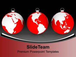 Christmas Day Clip Art Three Filigree With Earth Maps Globe Templates Ppt Backgrounds For Slides