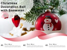 Christmas Decoration Ball With Snowman