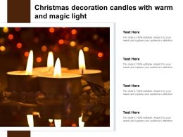 Christmas Decoration Candles With Warm And Magic Light