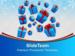 Christmas Gifts Party Falling On Eve Powerpoint Templates Ppt Backgrounds For Slides