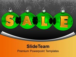 Christmas Gifts Vintage Illustration Of Sale Using Balls Powerpoint Templates Ppt For Slides