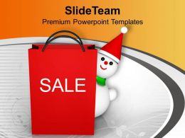 Christmas Gifts Winter Sale Isolated Celebration Paper Powerpoint Templates Ppt Backgrounds