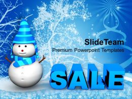 Christmas Greeting Pictures Of Jesus Snowman With Sale Shopping Templates Ppt For Slides