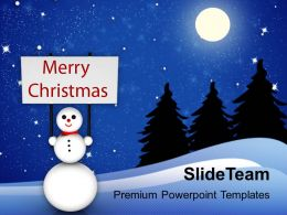 Christmas Greeting Pictures Of Jesus Snowman With Winter Powerpoint Templates Ppt For Slides
