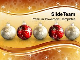 Christmas Greetings Decorative Filigree Holidays Powerpoint Templates Ppt Backgrounds For Slides