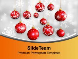 Christmas Hanging Balls Picture Ornament Powerpoint Templates Ppt Themes And Graphics 0113