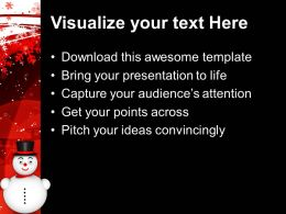 Christmas Happy Snowman Festival Powerpoint Templates And Themes