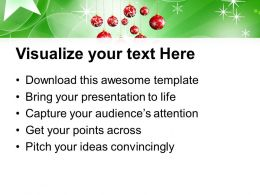 Christmas Holiday 3d Illustration Of Balls Winter Holidays Templates Ppt Backgrounds For Slides
