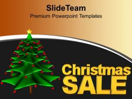 Christmas Holiday 3d Illustration Of Tree And Sale Powerpoint Templates Ppt Backgrounds For Slides