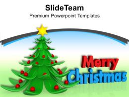 Christmas Holiday 3d Illustration Of Tree Festival Powerpoint Templates Ppt Backgrounds For Slides