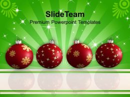 Christmas Holiday Attractive Baubles Festival Powerpoint Templates Ppt Backgrounds For Slides