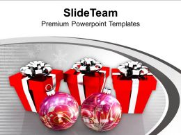 Christmas Image Festival Peace Boxes Balls Powerpoint Templates Ppt Backgrounds For Slides