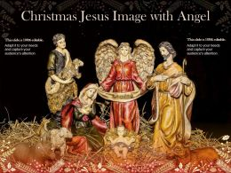 Christmas Jesus Image With Angel