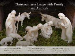 Christmas Jesus Image With Family And Animals