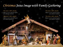 Christmas Jesus Image With Family Gathering